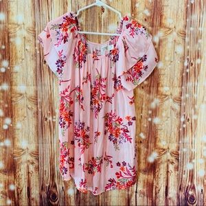 Terra and Sky pink floral top size 0X